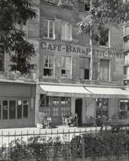 Cafe on Rue de la Petite Boucherie, Paris 1950