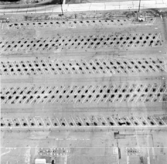 Parking Lots (Lockheed Air Terminal, 2627 N. Hollywood Way, Burbank) #3, 1967-99, 15 x 15 inch Gelatin Silver Print, Initialed and editioned on verso, Edition 23/3