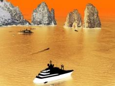Olivo Barbieri, Capri #8, 2013. 65 x 85 inch Archival Pigment Print. Edition of 6