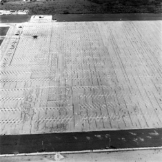 Parking Lots (Lockheed Air Terminal, 2627 N. Hollywood Way, Burbank) #2, 1967-99, 15 x 15 inch Gelatin Silver Print, Initialed and editioned on verso, Edition 23/3