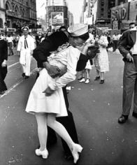 Alfred Eisenstadt, V-J Day, Times Square, 1945, 14 x 11 inch Gelatin Silver Print, Printed in the 1970s, Signed on recto