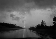 Mark Steinmetz , Mississippi Lightning, 1994, 20 x 24 inch Gelatin silver print, Signed, titled, dated and editioned on verso, Edition 1/15