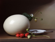 Strawberries and Ostrich Egg, 2007, 17 x 23 inch, chromogenic print, Edition of 7, Signed, titled, dated and editioned on label on verso