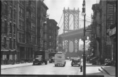 Manhattan Bridge from Madison and Pike Streets, New York 1946 Gelatin silver print