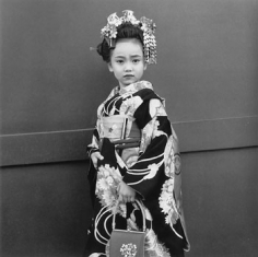 """Celebrating Shichi-go-san, a gala day for girls at ages three and seven, 2001, Gelatin Silver Print, image 14 x 14"""" / paper 16 x 20"""", Signed, titled, editioned and dated in pencil on verso, Edition of 20"""