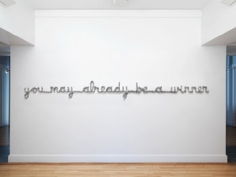 You May Already Be A Winner, 2009 (Henrietta, June 11, 2007 9:24:24), one single sheet of aluminum foil, 8.5 x 122 x 2 inches