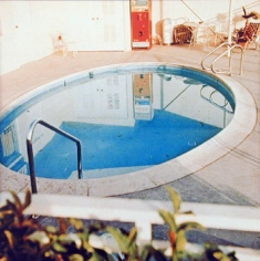 Nine Swimming Pools (pool seven), 1967, 16 x 16 inch Color Coupler Print, Signed, dated and editioned on verso, Executed in 1968 and printed in 1997