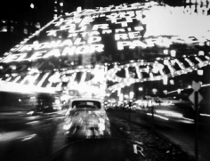 Ted Croner, Time Square Montage, 1947-48, 14.74 x x19 inch gelatin silver print, Photographer's copyright stamp with signature, title, negative date, and print date in pencil on verso