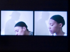 LaToya Ruby Frazier, Momme Portrait Series (Heads), 2008. Digital Video Transfer to DVD, Color, Silent, 2:00 Minutes.
