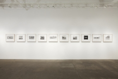 "Exhibition installation- ""Baltz Becher Ruscha,"" Yancey Richardson Gallery, April 21 to June 4, 2011."