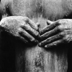 Mario Cravo Neto, Black Torso in Whitewash, 1988, 18 x 18 inch Gelatin Silver Print, Signed & dated in margin, Edition of 25