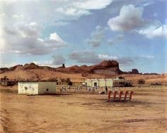 Joel Sternfeld, The Eagles Kayenta Junior High School at Football Practice, Kayenta, Arizona, Najavo Nation, August, 1986/ 2003, 48 x 58.5 inch Chromogenic print, Edition of 10