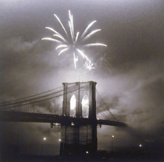 Bruce Cratsley Centennial Fireworks, Brooklyn Bridge, New York City, 1983