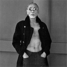 """A performer of butoh dance, 2001, Gelatin Silver Print, image 14 x 14"""" / paper 16 x 20"""", Signed, titled, editioned and dated in pencil on verso, Edition of 20"""