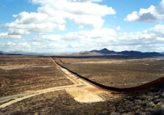 """Untitled"" [border fence, near Naco, AZ], 2010 Chromogenic print, 39 x 55 inches and 55 x 76 inches, [VS-10-25], Ed. of 5"