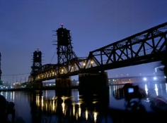 Students at the Hackensack Bridge, 2008, 20 x 24 inch Chromogenic Print, Signed and titled on verso, Edition of 15