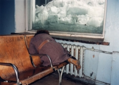 Railway Station, Tomsk, 1992, 16 x 20 inch Chromogenic Print,