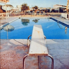 Nine Swimming Pools (pool two), 1967, 16 x 16 inch Color Coupler Print, Signed, dated and editioned on verso, Executed in 1968 and printed in 1997