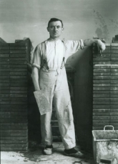 August Sander Pastry Cook, Koln-Lindenthal, 1928