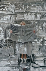 Lost in my Life (wrapped books), 2010, Pigment Print, available: 30 x 20 inches, Edition of 6; 56 x 35 inches, Edition of 6; 90 x 60 inches, Edition of 3
