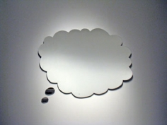 Thinking of You, Too, 2008, 27 x 37 ½ inch mirrored Plexiglas,