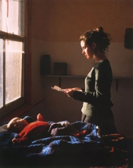 Woman Reading a Posession Lette, r