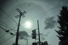 Sun Halo, Greyhound to DC #5, 2014, 18.5 x 27.5 inch chromogenic print