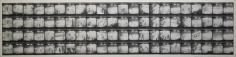 Untitled, PB #1034, 1974. Vintage gelatin silver photobooth prints, 7 7/8 x 35 inches.