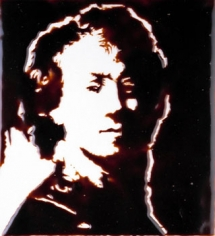 Vik Muniz Self Portrait after Rembrandt (from Pictures of Chocolate), 2002