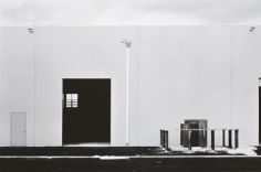"Lewis Baltz, ""West Wall, Nursery Supplies,"" 1974, from the ""New Industrial Parks"" portfolio, Vintage Gelatin Silver print, Image size 6 x 8 7/8 inches, Sheet size 8 x 10 inches, Edition of 21"
