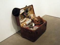 Notgeld Stamm (Notgeld Trunk), 2007, Dimensions variable, Mixed media in vintage trunk, Unique