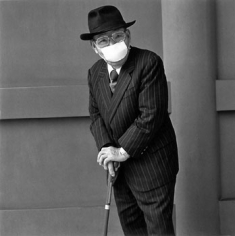 """An older man with a penetrating gaze, 2001, Gelatin Silver Print, image 14 x 14"""" / paper 16 x 20"""", Signed, titled, editioned and dated in pencil on verso, Edition of 20"""