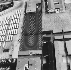 Parking Lots (State Board of Equalization, 14601 Sherman Way, Van Nuys) #19, 1967-99, 15 x 15 inch Gelatin Silver Print, Initialed and editioned on verso, Edition 23/3