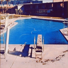 Nine Swimming Pools (pool three), 1967, 16 x 16 inch Color Coupler Print, Signed, dated and editioned on verso, Executed in 1968 and printed in 1997