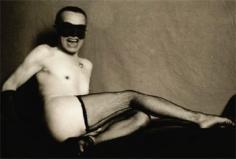 Pierre Molinier, Untitled (self-portrait), ca. 1966-1968, 3.75 x 4.38 inch vintage gelatin silver print.