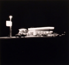 "Ed Ruscha, ""Shell- Daggett, CA,"" 1962/1989, from the ""Gasoline Stations"" portfolio, Gelatin Silver print mounted on board, 19 1/2 x 23 inches, Edition of 25"