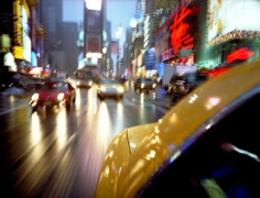 Lynn Saville, Taxi Times Square, 2002, 30 x 40 inch Chromogenic Print, Signed, titled, dated and editioned on verso, Edition of 15