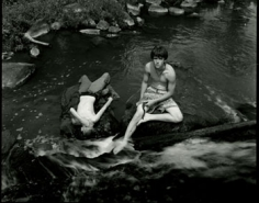 Jeff Whetstone, Two Boys and Water Snake, 24 x 35 inch Gelatin silver print, Signed, titled, dated and editioned on verso, Edition of 5