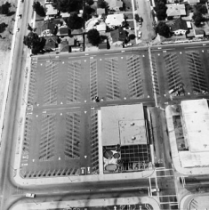 Parking Lots (Sears Roebuck & Co., Bellingham & Hamlin, North Hollywood) #11, 1967-99, 15 x 15 inch Gelatin Silver Print, Initialed and editioned on verso, Edition 23/3