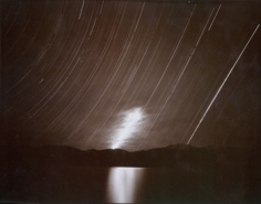 Moonrise, Clouds and Startrails, Lake Tsomriri, Ladakh, India, 1998