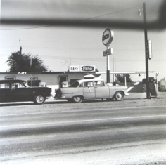 Ed Ruscha, Enco, Conway, Texas, from Five Views from the Panhandle, 1962/2007, Suite of 5 7.5 x 7.5 inch Gelatin silver prints, Signed and editioned on the colophon page in linen clamshell case with silver embossing (sold only as full suite of 5)