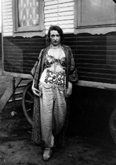 Circus Artist, 1926, image 10.25 x 7.5 inches/mount 17.25 x 13.25 inches Gelatin Silver Print attached to rag board with archival hinge