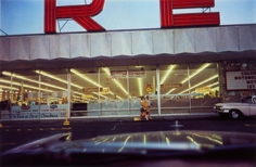 William Eggleston, Untitled, (Store Parking Lot), From Lost and Found, 1965-1974, 16 x 20 inch Dye transfer print, Signed recto/ stamped verso, Edition of 12