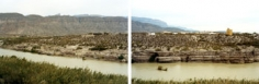 """Untitled"" diptych [Boquillas del Carmen, Big Bend National Park], 2009 Chromogenic print, each panel 39 x 55 inches and 55 x 76 inches, [VS-09-54, VS-09-53], Ed. of 5"