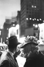"Louis Faurer, Times, Square, New York City, c. 1949, Printed in 1981, 14 x 11 inch Gelatin Silver Print, Signed, dated and annotated ""New York, N.Y."""