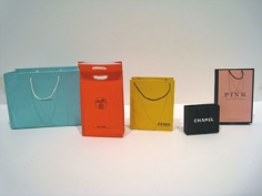Blue, Orange, Yellow  Black & Pink (from Little Luxuries), 2009, Color laser prints, ink, thread, adhesive, Dimensions variable