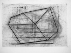 David Row  ONE, 2013  charcoal on vellum  24 1/2 x 37 1/2 inches