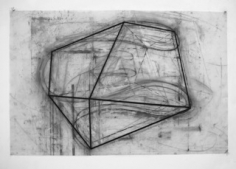 David Row FOUR, 2013 charcoal on vellum 24 1/2 x 37 1/2 inches