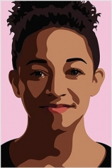 Julian Opie  Imogen smiling. From 3 Portraits., 2015  lenticular acrylic panels  frame: 35 5/8 x 24 inches  Edition of 30  $10,000