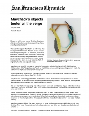 Maychack's objects teeter on the verge.